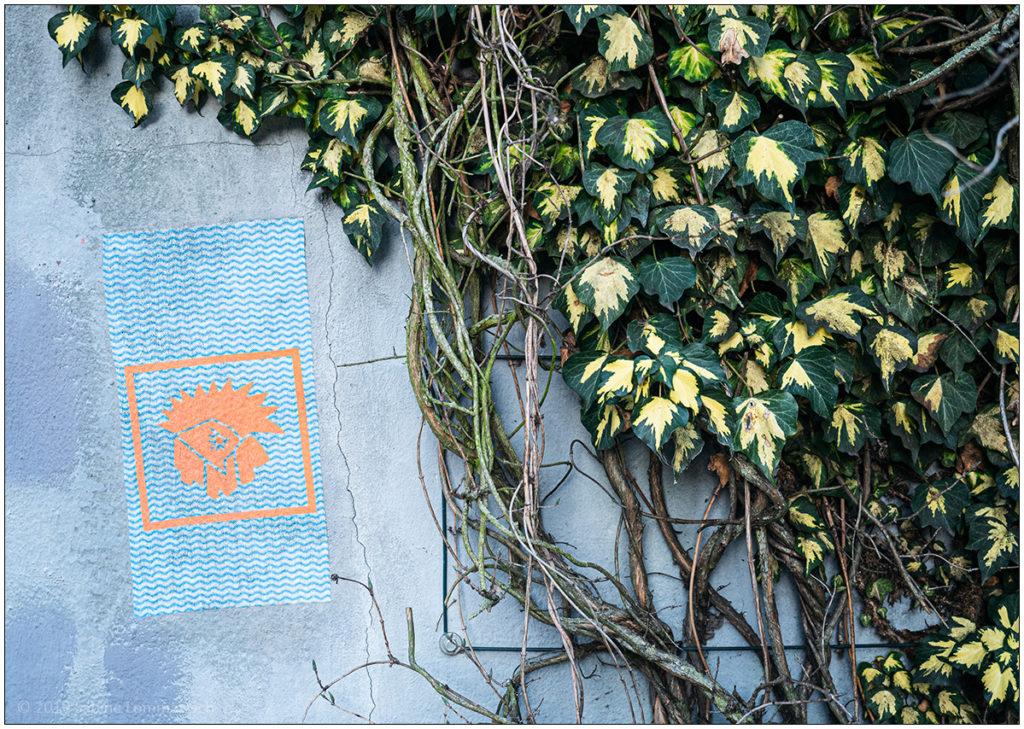Street Art mit Efeu © 2020 Sabine Lommatzsch