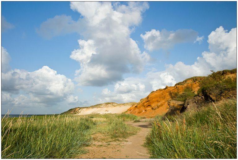 Morsum Kliff mit Wolken © 2009 Sabine Lommatzsch