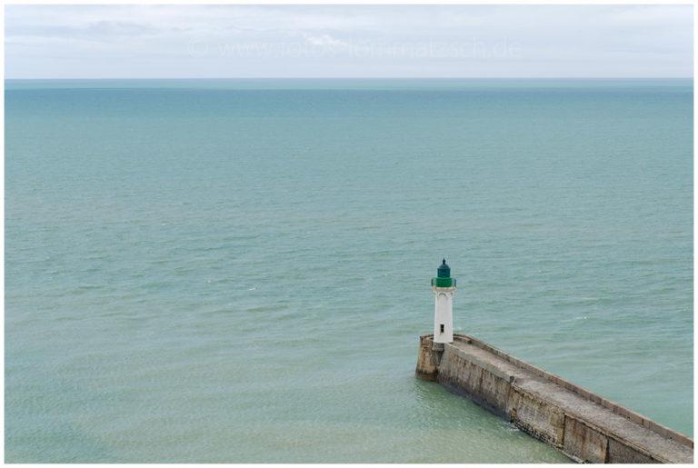 Hafeneinfahrt von Saint-Valery-En-Caux © 2011 Sabine Lommatzsch