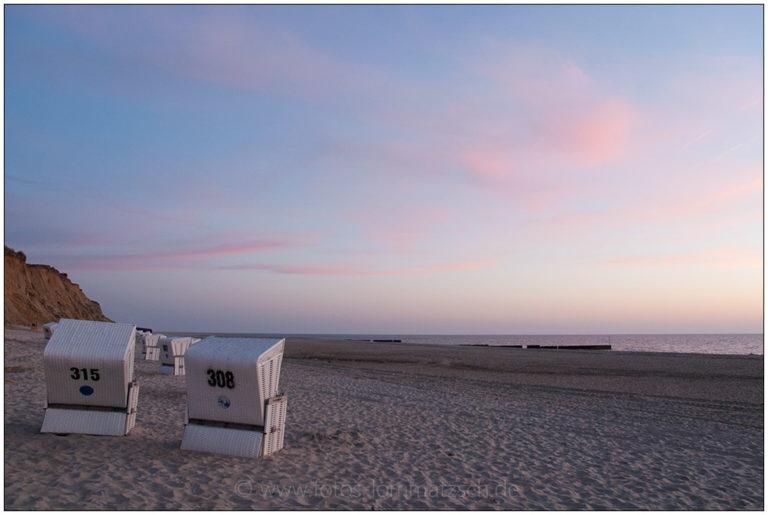Sylter Sonnenuntergang mit Strandkörben © 2008 Sabine Lommatzsch