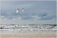 Kite-Surfer in Vejers Strand © 2016 Sabine Lommatzsch